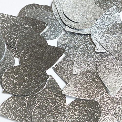 Leather Metallic Embossed (Teardrop Sequin 1.5
