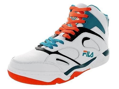 Fila Kj7 - Zapatillas de Baloncesto de Piel para Hombre, Blanco ...