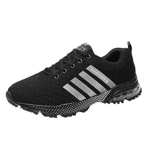 Logobeing Zapatillas Deportivas de Mujer Sneakers Zapatos Adulto Rojo Negro Blanco Malla Suave Antideslizante Cómoda Zapatillas Mujer de Running: Amazon.es: ...