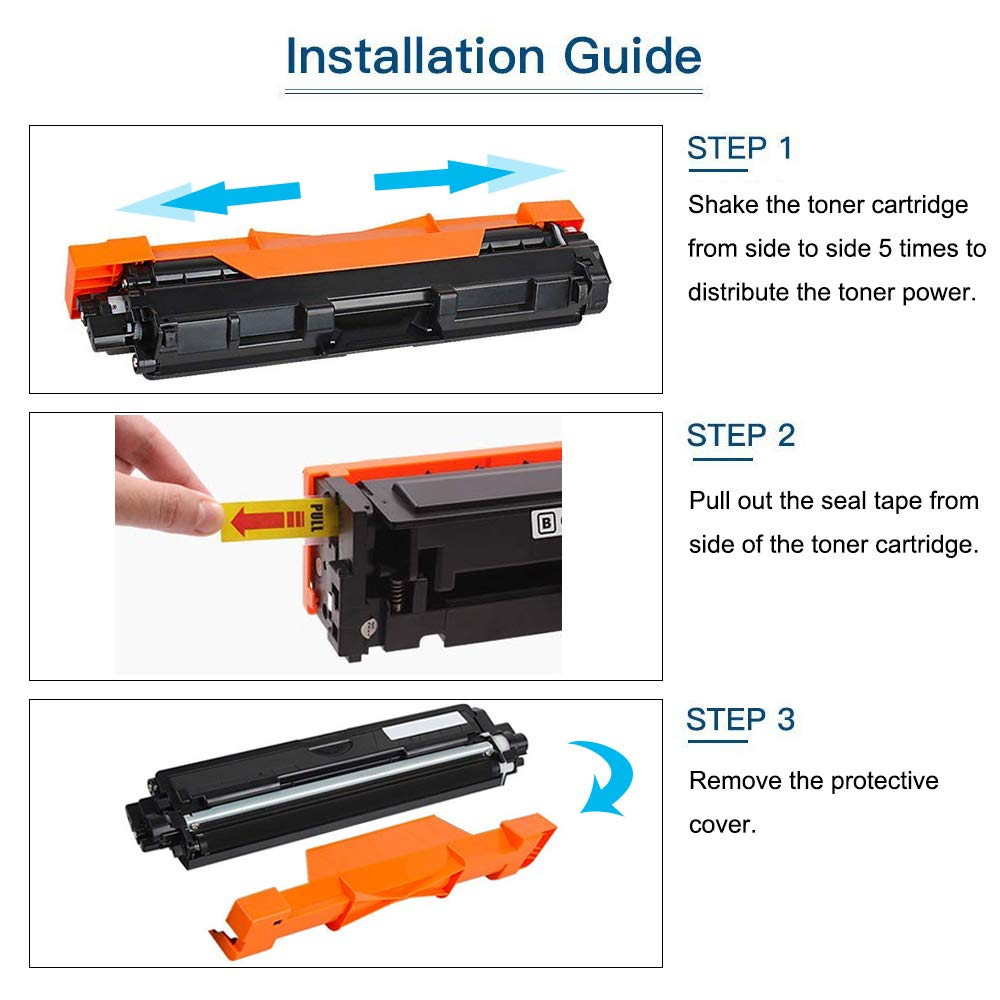 3-Pack Black BAISINE TN1050 Compatible Toner Cartridge for Brother 1050 TN-1050 for Brother HL-1110 DCP-1510 HL-1210W DCP-1610W HL-1112 MFC-1810 HL-1212W MFC-1910W DCP-1612W DCP-1512 Printer