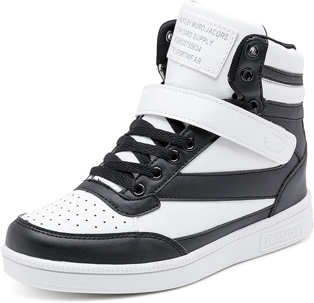 Solshine Damen Kn/öchel Stiefel mit innen Keilabsatz Klettverschluss Sneaker-Wedges Stiefeletten