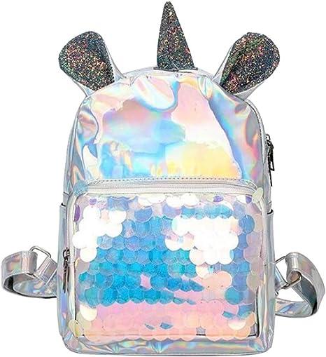 Paillettes Licorne Sac /à Dos Glitter Mini Sac /à Dos Sac Besace Voyage Sac /à Dos pour Les Filles