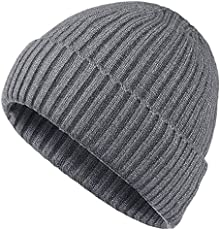 87fc650dbd95 Vgogfly Slouchy Beanie for Men Winter Hats for Guys Cool Beanies Mens Lined  Knit Warm Thick ...