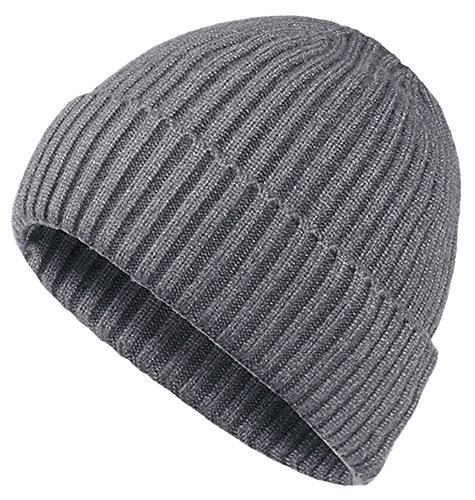 (Oryer Mens Winter Hats Wool Knit Slouchy Beanie Warm Hat Baggy Skull Cap)