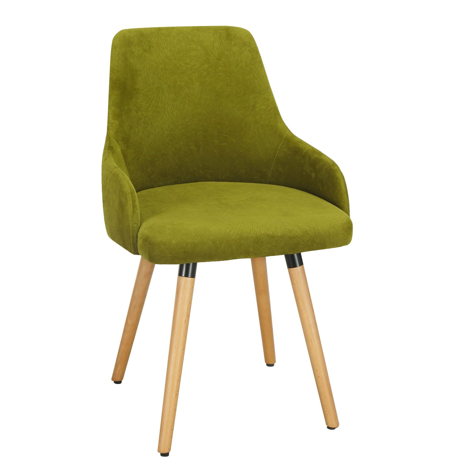 ELEGAN Fabric Accent Leisure Chair with Wood Leg
