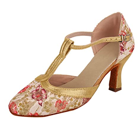 b2bde2472cedf Amazon.com: leewa Women's Sandals Dancing Rumba Waltz Prom Ballroom ...