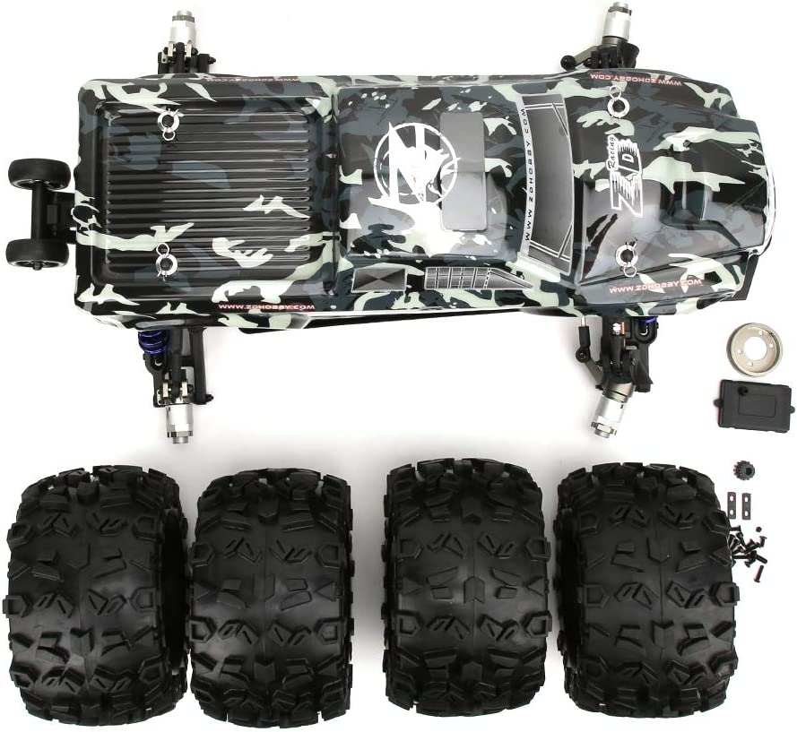 Dilwe 1/8 RC Racing Car Kit 90km/h, Camouflage MT8 ...