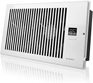 "AC Infinity AIRTAP T6, Quiet Register Booster Fan with Thermostat Control. Heating Cooling AC Vent. Fits 6"" x 12"" Register Holes."