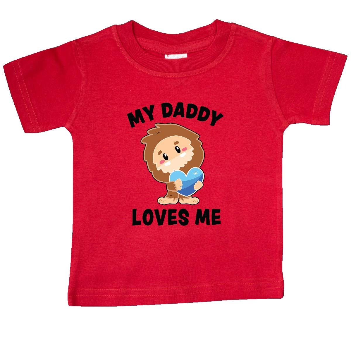 inktastic Cute Bigfoot My Daddy Loves Me Baby T-Shirt