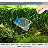 SunGrow Betta Net, 5x4 Inches with 11 Inches