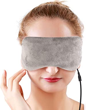 NEWGO®USB Heated Eye Mask with Gel Ice Pack for Eye Therapy, Steam Eye Mask with Time and Temperature Control for Eye Puffiness, Dry Eye, Tired Eyes
