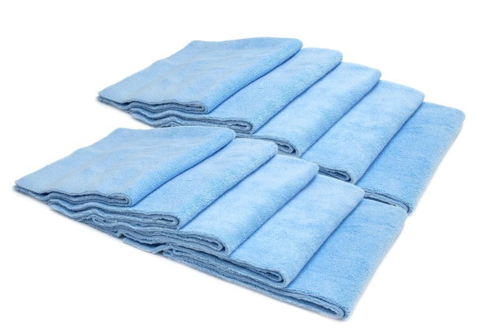 BULK BUNDLE [Mr. Everything] Edgeless Microfiber Utility Towel (16 in. x 16 in, 350 gsm) 10 pack (Blue)