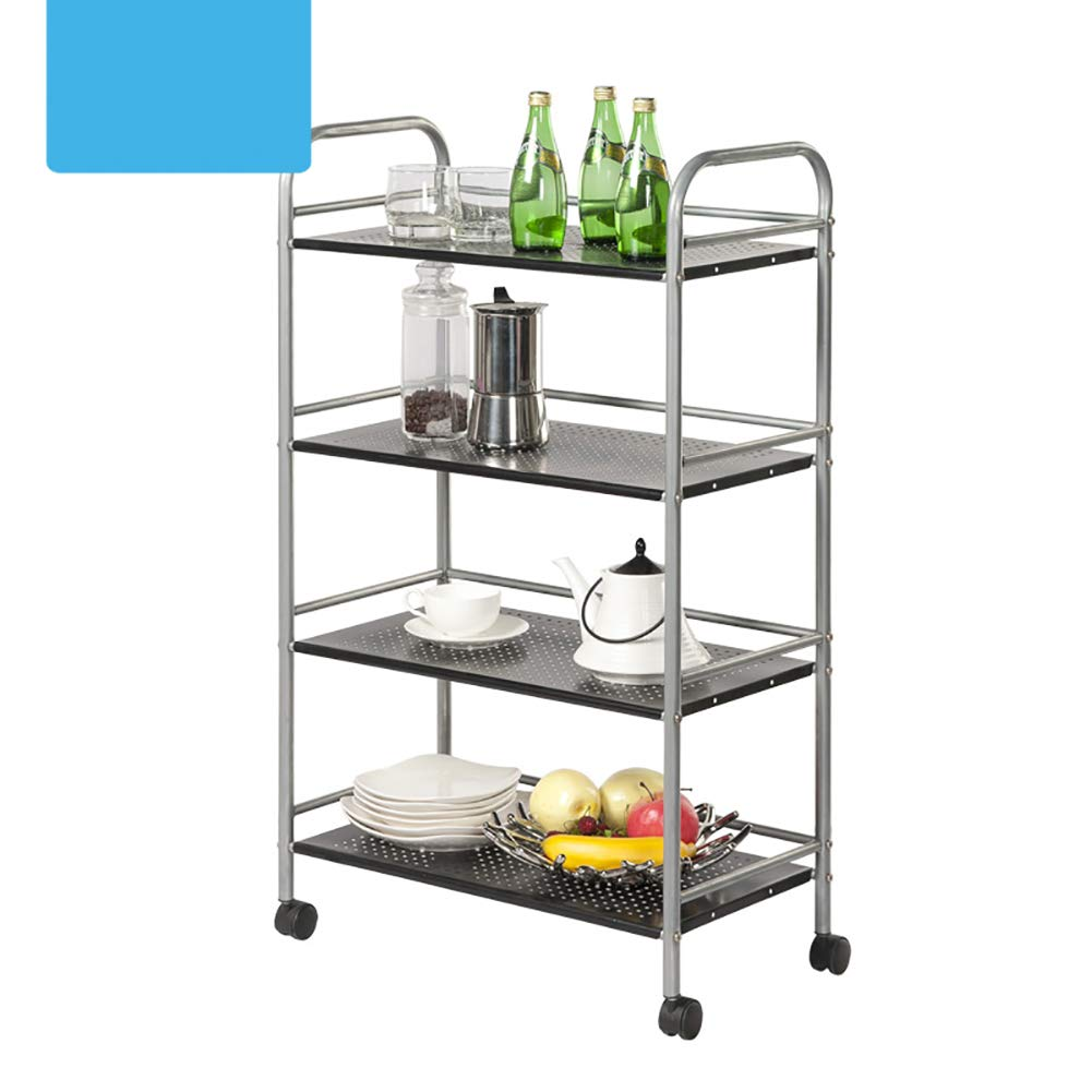 Kitchen Cart, with Wheel Storage Rack, Multi-Function Movable Trolley, Environmentally Friendly Spray Material Multiple Uses by Kitchen Cart (Image #4)