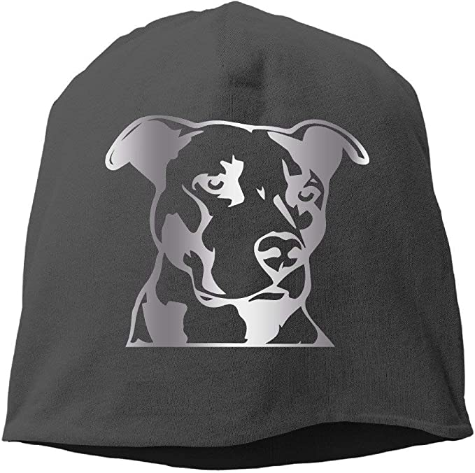 Pitbull Head Vinyl Decal C Platinum Style Beanies Cap Black