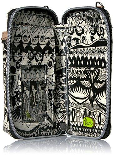 Cross White Circle Bag Body Black Sakroots Smartphone World One Wristlet Artist Convertible qTxzZX6w