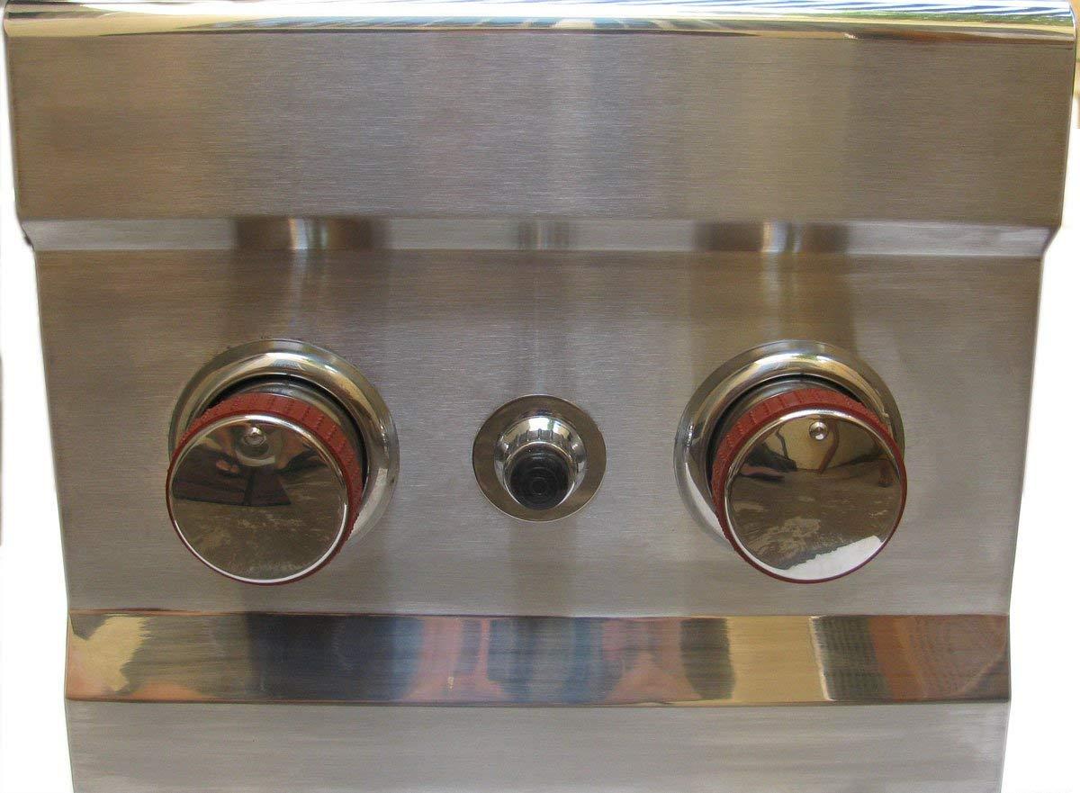 SUNSTONE 2CSB-LP Slide-In Double Side Burner Propane Gas Grill