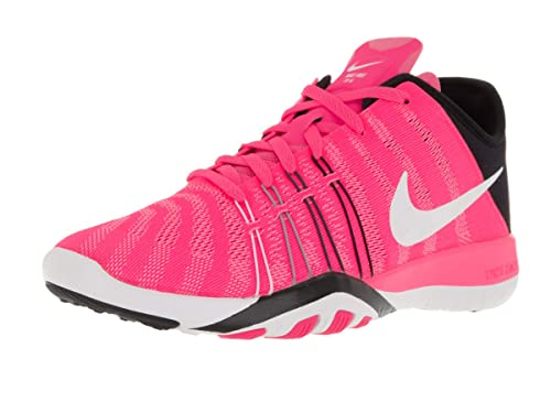 26ad2e74ee07 Nike Free TR 6 Women s Shoes Pink Blast Black White 833413-600 (5. 5 B(M)  US)  Amazon.in  Shoes   Handbags