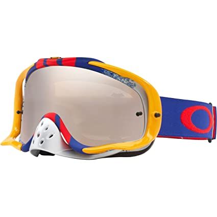 4cfec2f376 Amazon.com  Oakley Crowbar MX Pinned Race RB with Black and Clear unisex-adult  Goggles (Grey