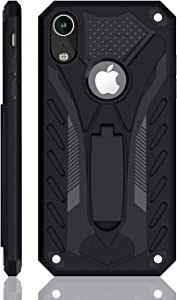 iPhone XR Case | Military Grade | 12ft. Drop Tested Protective Case | Kickstand | Wireless Charging | Compatible with iPhone XR - Black