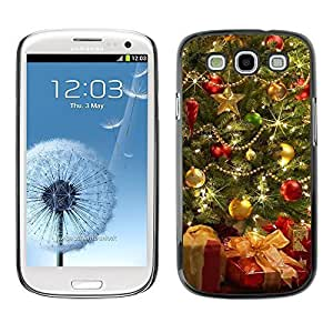 YOYO Slim PC / Aluminium Case Cover Armor Shell Portection //Christmas Holiday Beautiful Decorated Tree 1073 //Samsung Galaxy S3