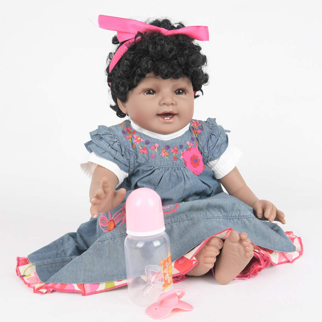 WONdere Reborn Toddler Baby Doll Artificial Girl 22/23 Inch Vinyl Silicone Lifelike Toy (C)