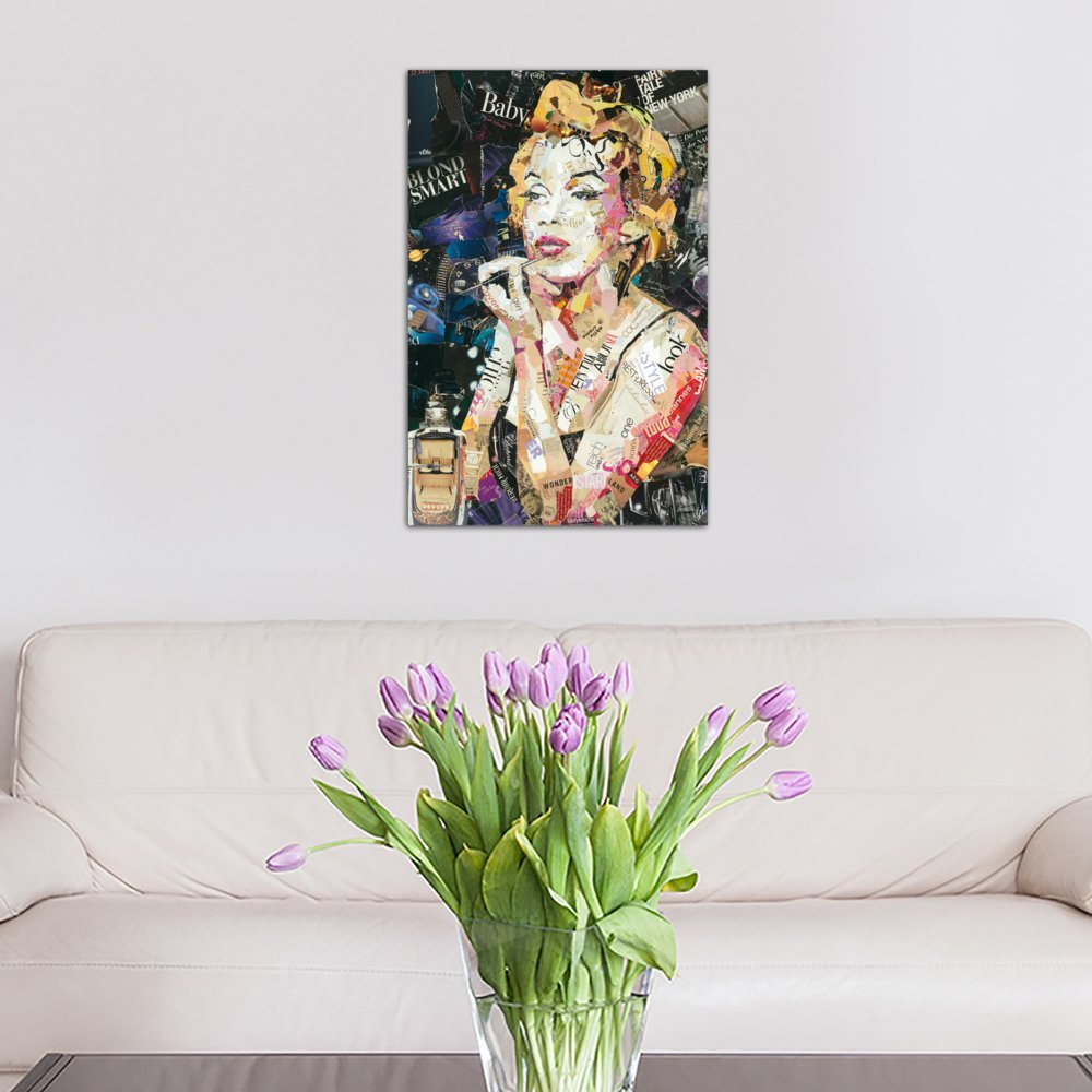 60 x 40//1.5 Deep iCanvasART 3 Piece Blond Smart Baby Canvas Print by INES Kouidis