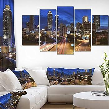 Amazon.com: So Crazy Art 3 piece Wall Art Painting Atlanta City ...