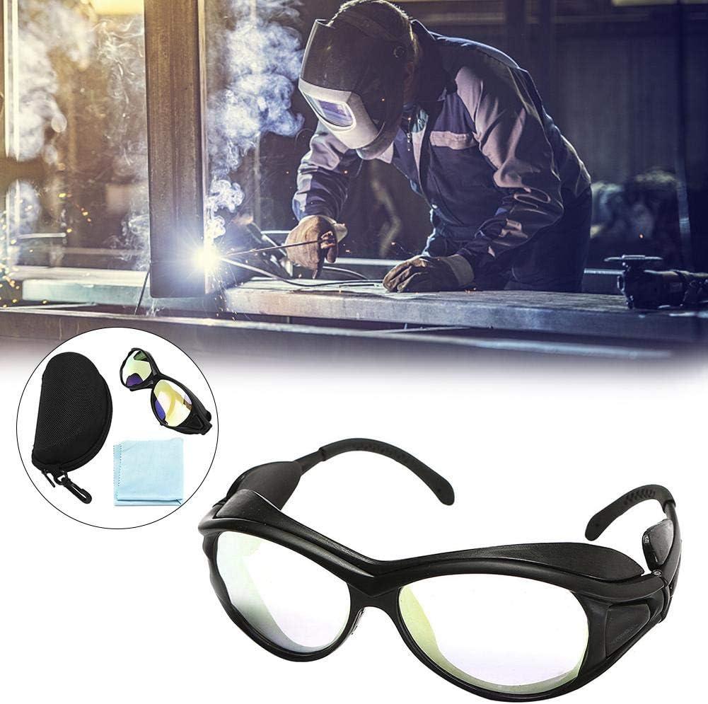 Esplic Gafas Protectoras contra láser, Lentes de Seguridad Transparentes Profesionales de Doble Capa W / CO2 10600nm OD aplicables a una Variedad de láseres