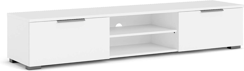 Tvilum Drawer 2 Shelf TV Stand, White