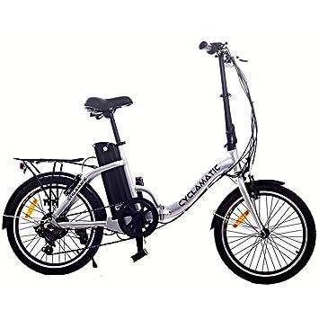 Amazon Com Cyclamatic Bicycle Electric Foldaway Bike With
