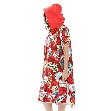 CAALSA Poncho de reemplazo de Toalla de Manga Corta/túnica de Secado rápido Tamaño único