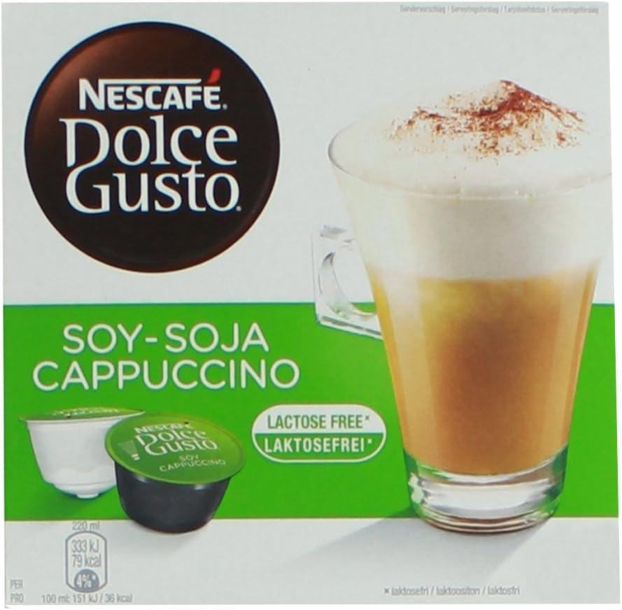 80 x Nescafé Dolce Gusto soja capuchino, Café con leche de soja ...