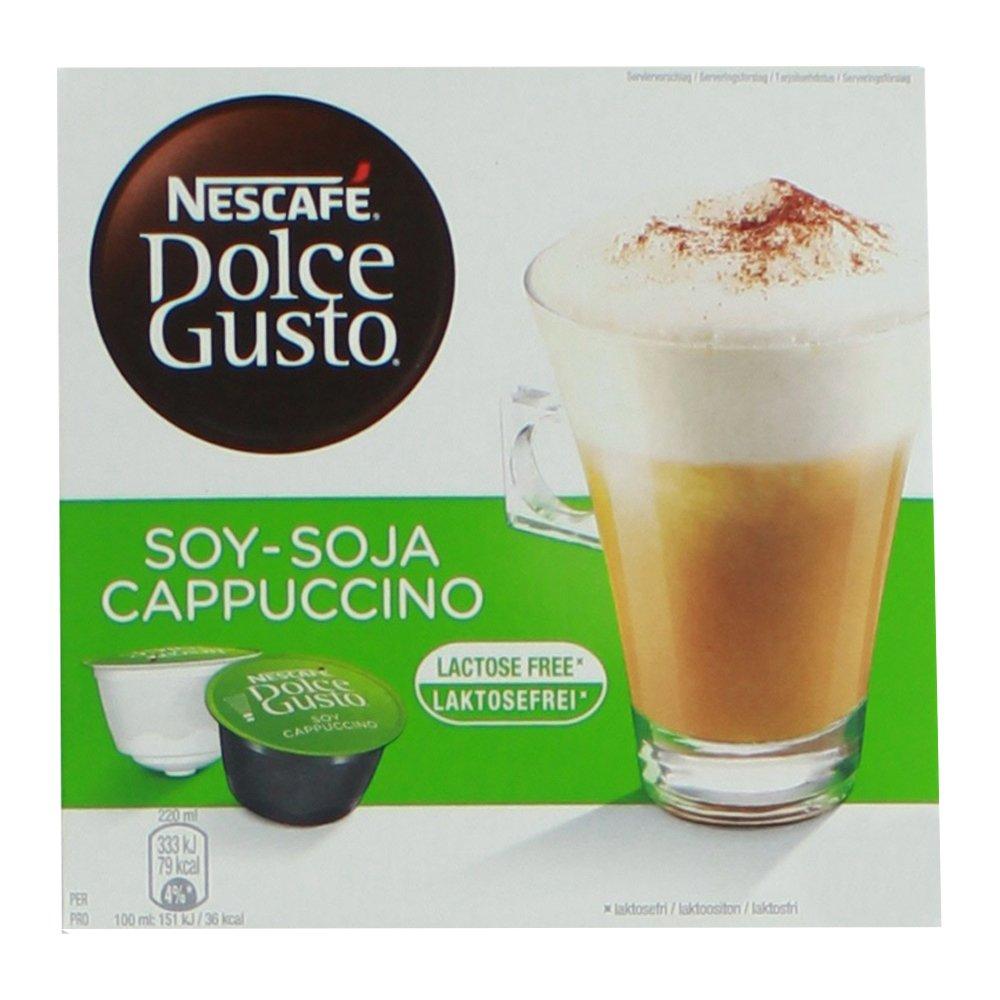 80 x Nescafé Dolce Gusto soja capuchino, Café con leche de soja, soy Leche, libre de lactosa, Café Cápsula, grande Paquete ventaja, paquete, 40 ...