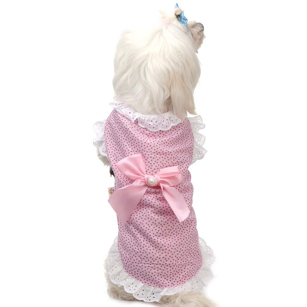 M WLDD Pet Puppy Kitten Dog Cat Summer Princess Lace Skirt Dress for Small Dogs and Cats (Size   M)