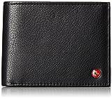 RFID SAFE Alpine Swiss Men's Deluxe Wallet Genuine Leather 14 Pocket ID Bifold black