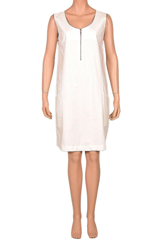 Nanso Kleid Trägerkleid mit Leinen Rundhals Reißverschluss Gr. 44 46 48 Länge 95 cm