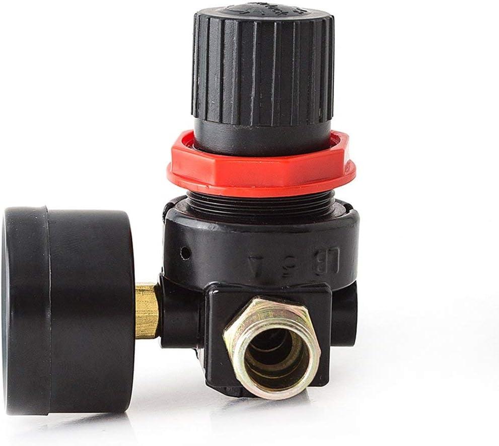 Yd088 Regulador de presi/ón de la botella de gas Mig Tig Medidor de flujo de soldadura Regulador del medidor Trampa de humedad Surtido-Negro