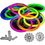 La Glowhouse Premium Bracelets fluorescents (mixte) Lot de 100