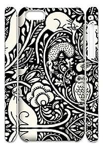 Black and Cream Owl Cat Hard Snap on Phone Case (Iphone 5C(3D))