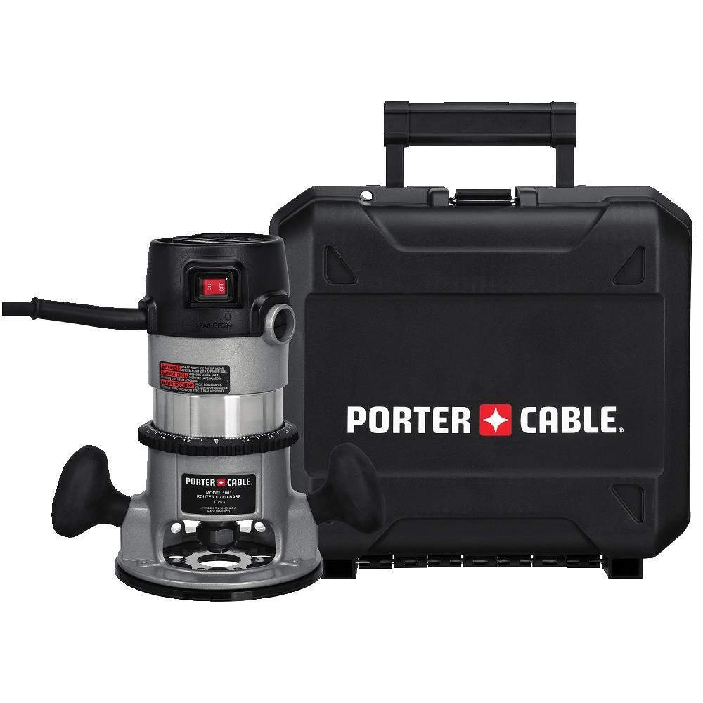 PORTER-CABLE 9690LR 11 Amp 1-3/4-Horsepower Fixed Base Router with 1/4-Inch and 1/2-Inch Collets