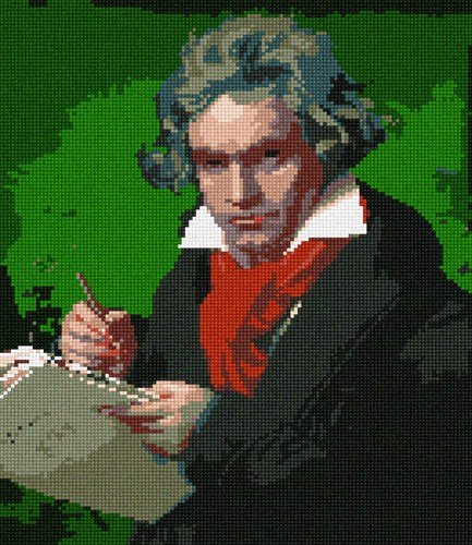 Ludwig Van Beethoven Needlepoint Canvas