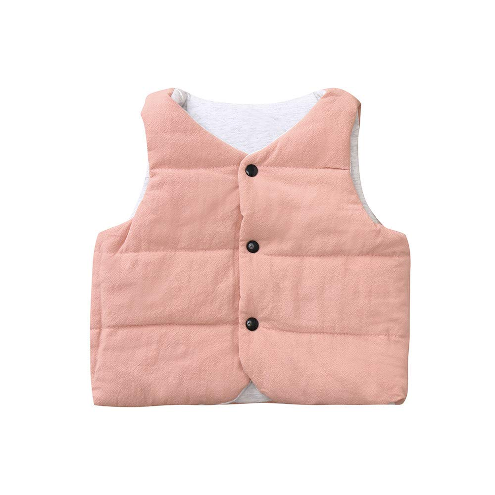 Kobay Kleinkind Baby M/ädchen Jungen /Ärmellose Feste Winter Warme Dicke Weste Outwear