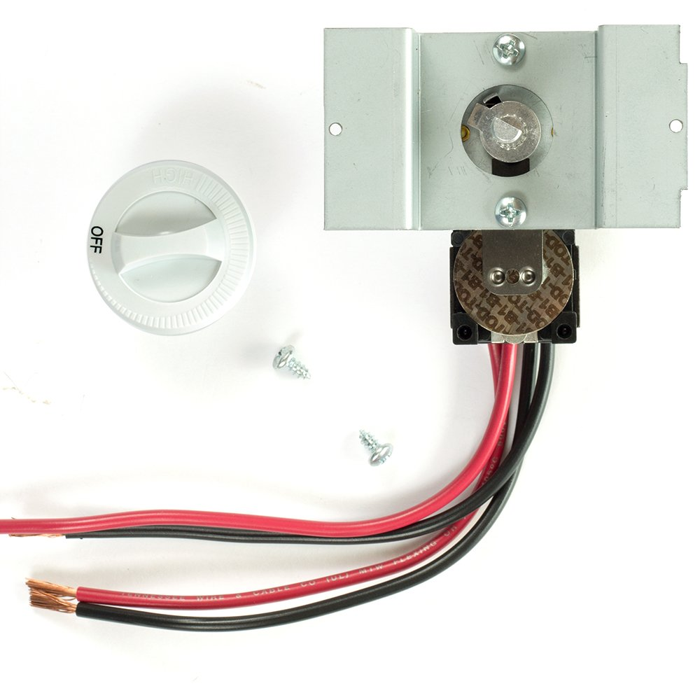 Cadet UCT2W BUILT IN STAT DOUBLE POLE WHITE