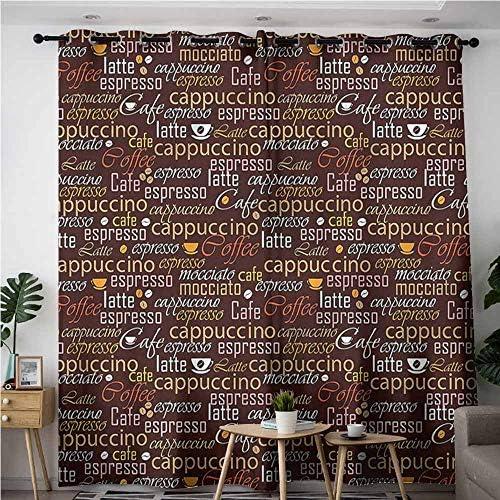 XXANS Cortinas para Puerta corredera, Cocina, Tazas de café, Tulipanes, Decoraciones, Espacio: Amazon.es: Hogar
