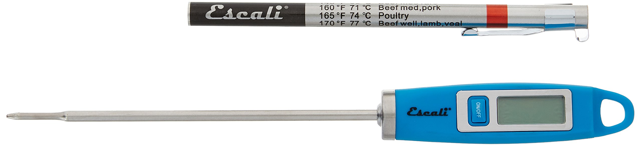 Escali DH1-U NSF Listed Gourmet Digital Thermometer, Blue
