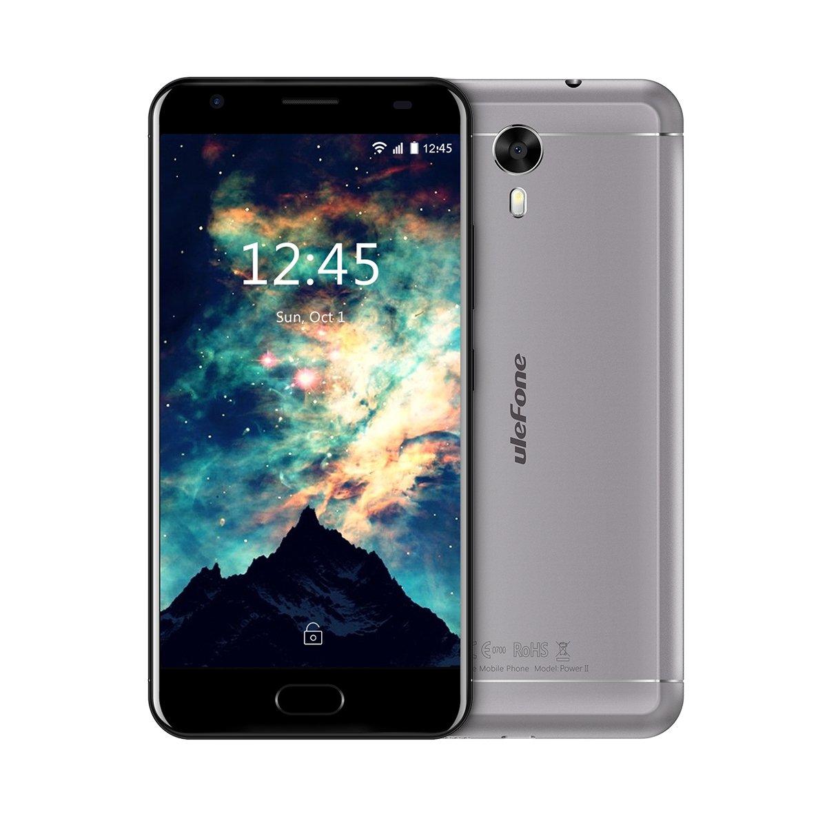 Ulefone U008 Pro Smartphone Libre 4G Negro 5.0 HD 1280 * 720 Tel/éfono M/óvil Libre MT6737 Quad-Core 1.3GHz CPU C/ámara de 8MP//5MP 2G+16G Bater/ía 3500mAh,Dual SIM Android 6.0