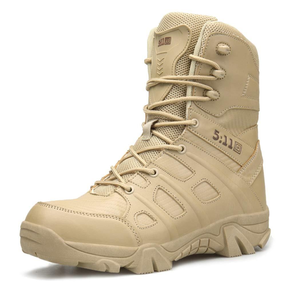 WWJDXZ Military Combat Stiefel Herren Security Special Forces Stiefel Taktische Polizei Schuh Camping Wandern Klettern Lace Up Schuhe (Farbe   01 größe   40)