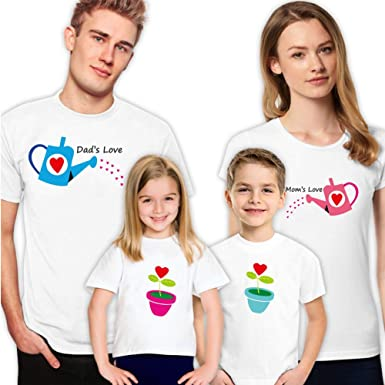 f1847bd0 Amazon.com: Watering Flowers Family Matching Shirts for T-Shirts Set ...