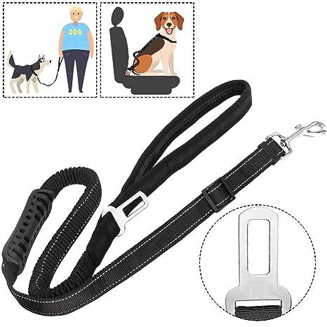 Amazon.com: slowton cinturón de asiento de coche de perro ...