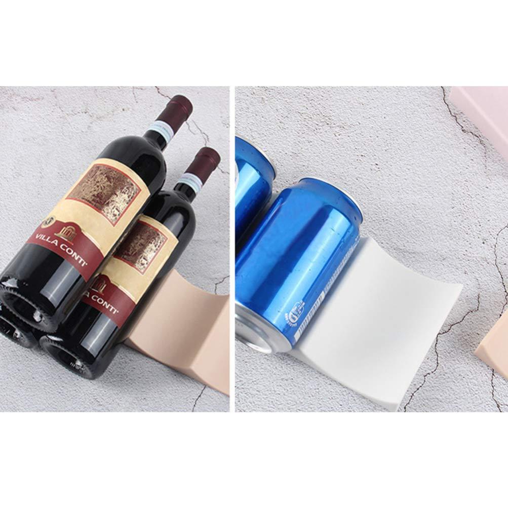 Hemoton 2 Pezzi Portabottiglie per Vino Display Organizzatore Frigorifero Organizza Pile e Bottiglie per UnaFacile Conservazione Bianco